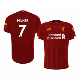 2019/20 James Milner Liverpool Home Short Sleeve Authentic Jersey