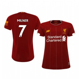 Women's 2019/20 James Milner Liverpool Home Short Sleeve Authentic Jersey