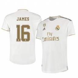 2019/20 James Rodríguez Real Madrid Home Authentic Jersey