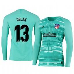 2019/20 Atletico de Madrid Jan Oblak Green Long Sleeve Goalkeeper Authentic Jersey