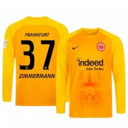 2019/20 Eintracht Frankfurt Jan Zimmermann Orange Goalkeeper Long Sleeve Authentic Jersey