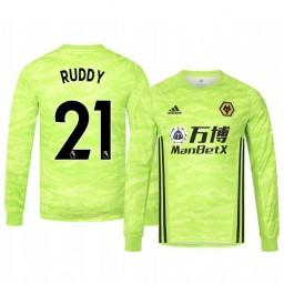 2019/20 Wolverhampton Wanderers John Ruddy Light Green Goalkeeper Home Authentic Jersey
