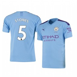 2019/20 John Stones Manchester City Home Short Sleeve Authentic Jersey