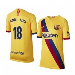2019/20 Barcelona Jordi Alba Away Short Sleeve Authentic Jersey