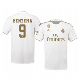 2019/20 Karim Benzema Real Madrid Home Authentic Jersey