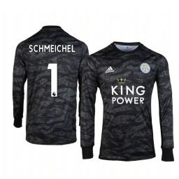 2019/20 Leicester City Kasper Schmeichel Black Goalkeeper Long Sleeve Authentic Jersey