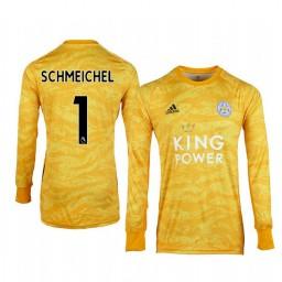 2019/20 Leicester City Kasper Schmeichel Gold Goalkeeper Long Sleeve Authentic Jersey