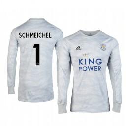 2019/20 Leicester City Kasper Schmeichel Grey Goalkeeper Long Sleeve Authentic Jersey