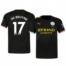 2019/20 Kevin De Bruyne Manchester City Away Short Sleeve Authentic Jersey
