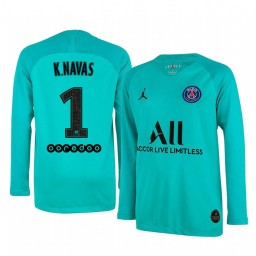 2019/20 Paris Saint-Germain Keylor Navas LIght Green Long Sleeve Goalkeeper Authentic Jersey