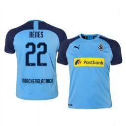 2019/20 Borussia Monchengladbach Lászlo Bénes Blue Away Authentic Jersey