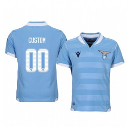 Youth 2019/20 Custom Lazio Home Light Blue Short Sleeve Authentic Jersey