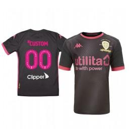 Youth 2019/20 Leeds United Custom Black Away Short Sleeve Authentic Jersey