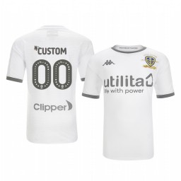 Youth 2019/20 Leeds United Custom White Home Short Sleeve Authentic Jersey
