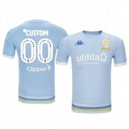 Youth 2019/20 Leeds United Custom Light Blue Third Short Sleeve Authentic Jersey