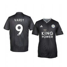 Youth 2019/20 Leicester City Jamie Vardy Black Third Short Sleeve Authentic Jersey