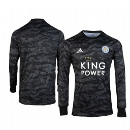 Youth 2019/20 Leicester City Black Goalkeeper Long Sleeve Authentic Jersey