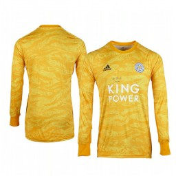 2019/20 Leicester City Gold Goalkeeper Long Sleeve Authentic Jersey