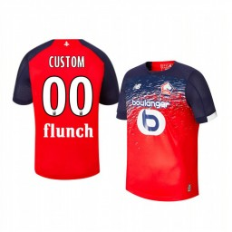 Youth 2019/20 Lille OSC Custom Red Home Short Sleeve Authentic Jersey