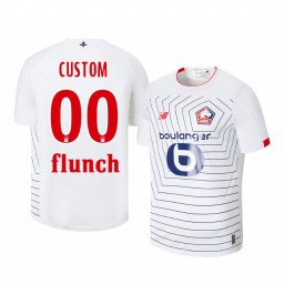 2019/20 Custom Lille OSC Third White Short Sleeve Authentic Jersey