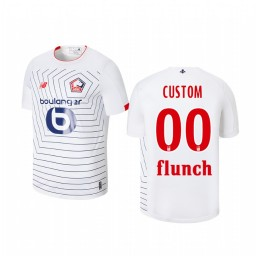 Youth 2019/20 Lille OSC Custom White Third Short Sleeve Authentic Jersey
