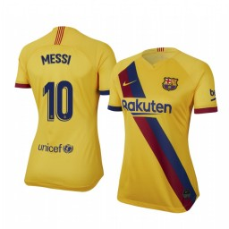 2019/20 Barcelona Lionel Messi Away Short Sleeve Authentic Jersey