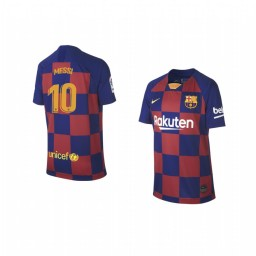 Youth 2019/20 Lionel Messi Barcelona Home Authentic Jersey