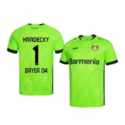 Youth 2019/20 Bayer Leverkusen Lukas Hradecky Green Goalkeeper Official Authentic Jersey