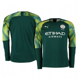 2019/20 Manchester City Green Home Goalkeeper Authentic Jersey