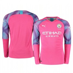 2019/20 Manchester City Pink Away Goalkeeper Authentic Jersey