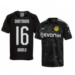 2019/20 Borussia Dortmund Manuel Akanji Black Away Authentic Jersey