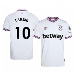 2019/20 Manuel Lanzini West Ham United Away Short Sleeve Authentic Jersey