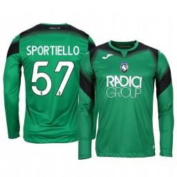 2019/20 Atalanta Marco Sportiello Green Goalkeeper Long Sleeve Authentic Jersey