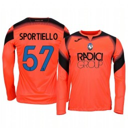 2019/20 Atalanta Marco Sportiello Orange Goalkeeper Long Sleeve Authentic Jersey