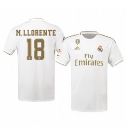 2019/20 Marcos Llorente Real Madrid Home Authentic Jersey