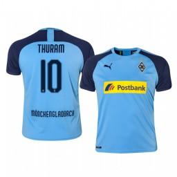 2019/20 Borussia Monchengladbach Marcus Thuram Blue Away Authentic Jersey