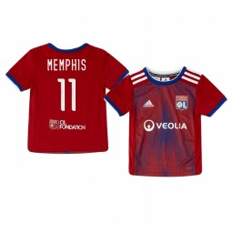 Youth 2019/20 Olympique Lyonnais Memphis Depay Authentic Jersey Alternate Third