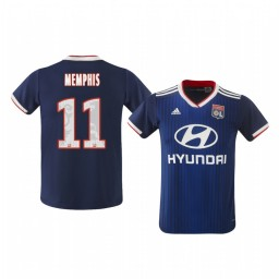 Youth 2019/20 Olympique Lyonnais Memphis Depay Away Authentic Jersey