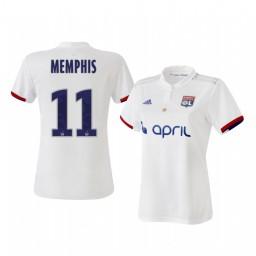 Women's 2019/20 Olympique Lyonnais Memphis Depay Home Authentic Jersey