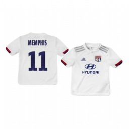 Youth 2019/20 Olympique Lyonnais Memphis Depay Home Authentic Jersey