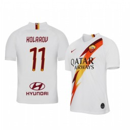 2019/20 Aleksandar Kolarov AS Roma Away Short Sleeve Authentic Jersey