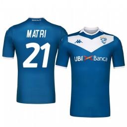 2019/20 Brescia Calcio Alessandro Matri Home Short Sleeve Authentic Jersey