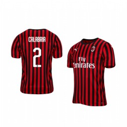 2019/20 AC Milan Davide Calabria Home Short Sleeve Authentic Jersey