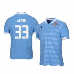 2019/20 Lazio Francesco Acerbi Home Short Sleeve Authentic Jersey