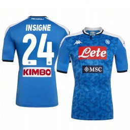 2019/20 SSC Napoli Lorenzo Insigne Home Short Sleeve Authentic Jersey