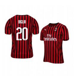 2019/20 AC Milan Lucas Biglia Home Short Sleeve Authentic Jersey