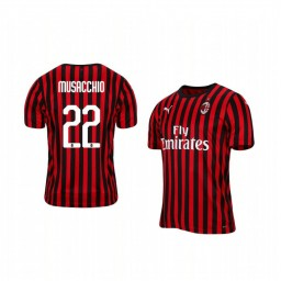 2019/20 AC Milan Mateo Musacchio Home Short Sleeve Authentic Jersey
