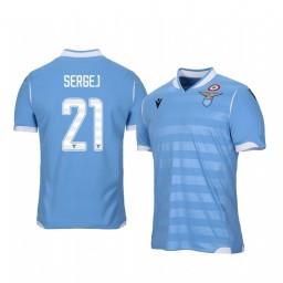 2019/20 Lazio Sergej Milinkovic-Savic Home Short Sleeve Authentic Jersey