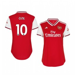 Women's 2019/20 Mesut Ozil Arsenal Home Short Sleeve Authentic Jersey
