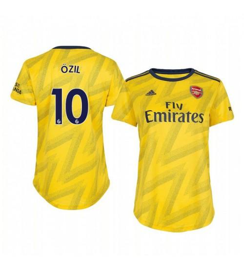 Women's 2019/20 Mesut Ozil Arsenal Away Short Sleeve Replica Jersey